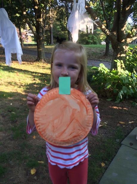 Ella holding craft
