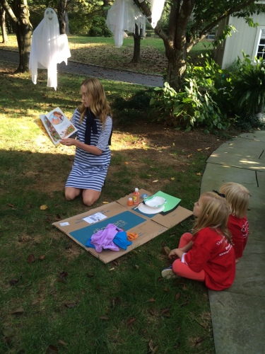 Reading to Ella and Wills