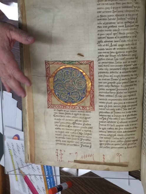 A medieval manuscript prayerbook owned by Pequot Library
