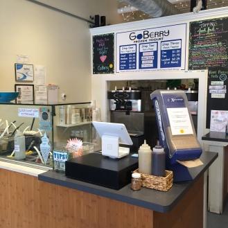the frozen yogurt shop